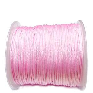 Snur matasos pentru bratari shamballa, roz, grosime 1.2mm 1 m