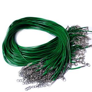 Ata cerata verde, 1.5mm, cu inchizatoare, 45cm 1 buc