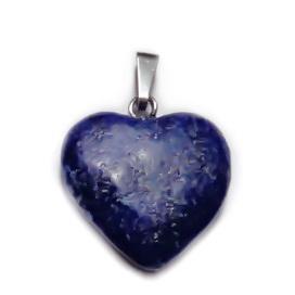 Pandantiv Lapis Lazuli, inima 20x20x6mm 1 buc