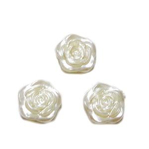Cabochon plastic, imitatie perle, crem, floare 12x4mm 1 buc