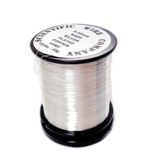 Sarma modelaj, soft, placata cu argint, 0.20mm-bobina 125 metri 1 buc