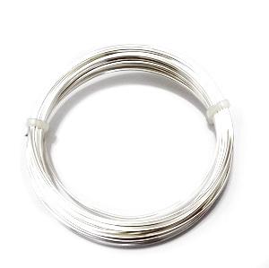 Sarma modelaj, soft, placata cu argint, 0.6mm-rola 10m 1 buc