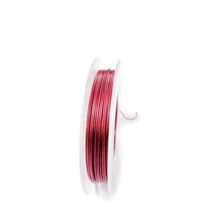 Sarma siliconata rosie, 0.38 mm-rola aprox 10m 1 buc