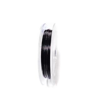 Sarma siliconata neagra, 0.45 mm-rola aprox 10m 1 buc