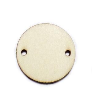 Conector / link lemn, natur, 30x2.5mm 1 buc