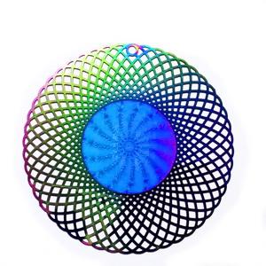 Pandantiv otel inoxidabil 201, electroplacat, multicolor, 53x0.2mm 1 buc
