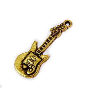 Pandantiv auriu-antic, chitara, 31x11x2mm 1 buc