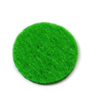 Fetru verde, rotund, 22x3mm 1 buc