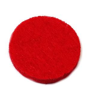 Fetru rosu, rotund, 22x3mm 1 buc