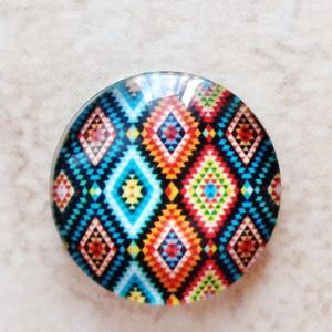 Cabochon sticla, 18x5mm, ,,Mozaic