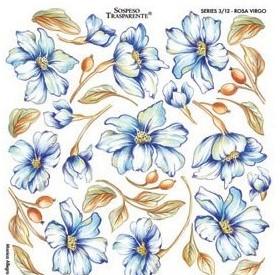 Folie imprimata Sospeso Trasparente 3/12 Rosa Virgo 1 buc