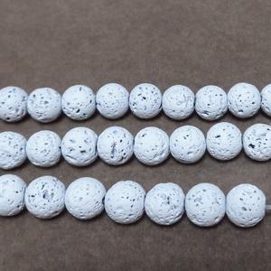 Lava colorata alb, 6mm 1 buc