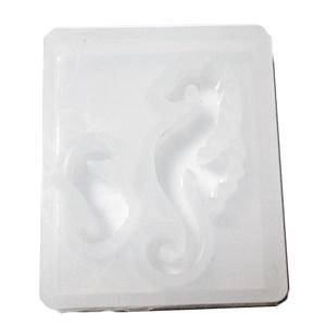 Forma modelaj din silicon alb, 2 forme caluti de mare, 44x37x8.5mm 1 buc