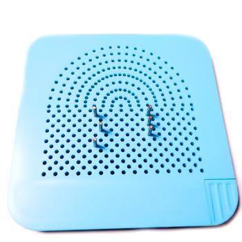 Placă șablon Quilling din material plastic bleu, 105x105x8mm 1 buc
