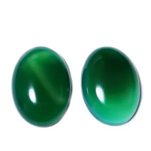 Cabochon agata verde, 25x18x6~7mm 1 buc