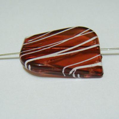 Margele plastic transparente maro 20x30 mm 1 buc