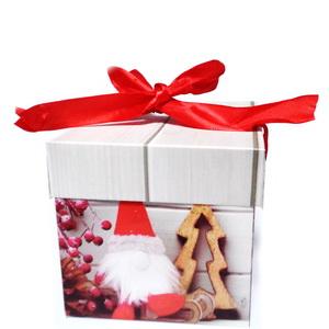 Cutie carton cu imagine Craciun, 10x10x10cm 1 buc
