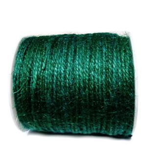 Snur canepa, vopsit verde inchis, 3 fire, 2mm 1 m