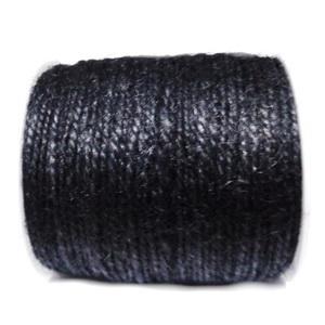 Snur canepa, vopsit negru, 3 fire, 2mm 1 m