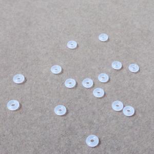 Opritoare silicon alb, semitransparent, 3.5x1.5mm, interior 1.2mm 10 buc