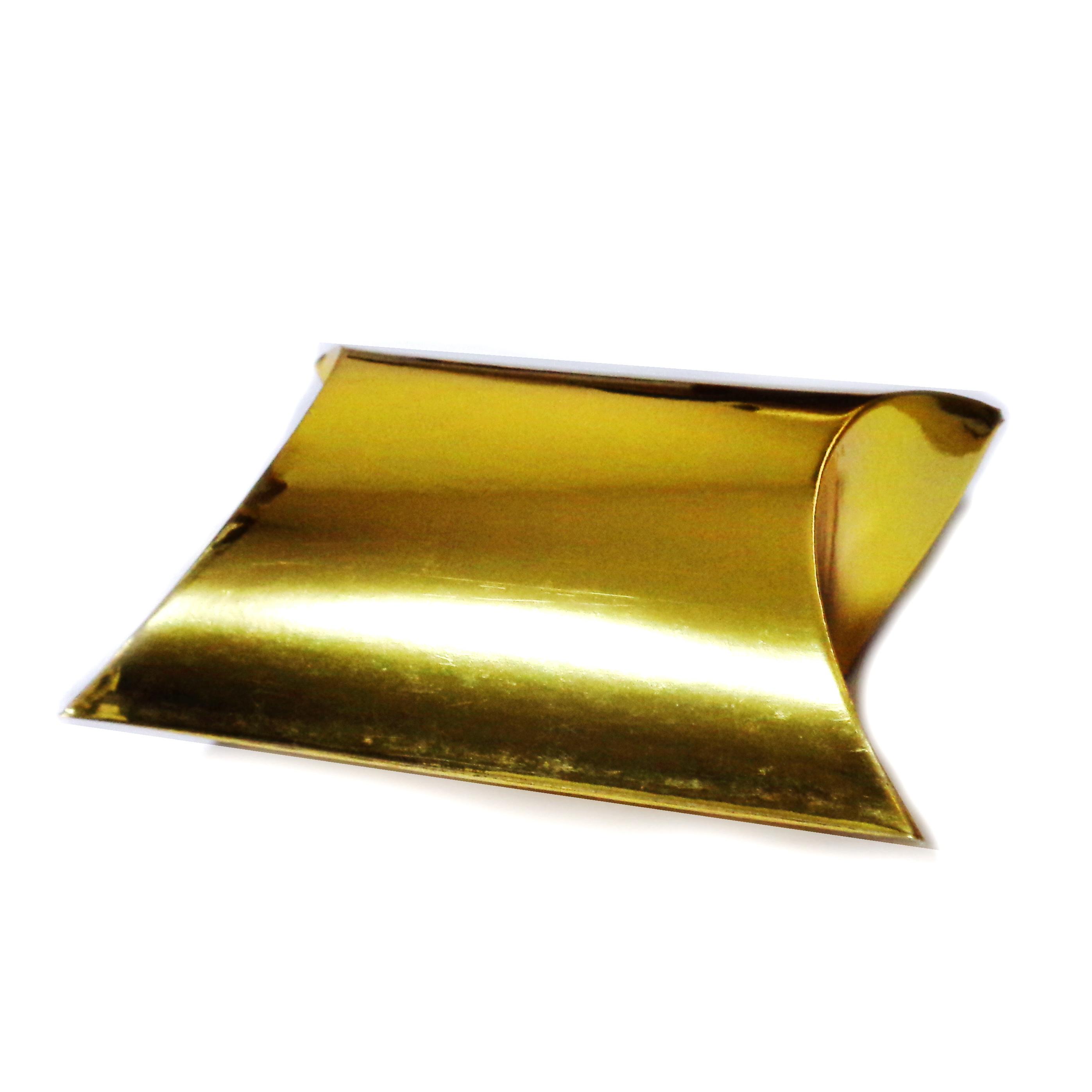 Cutie cadou carton auriu, perna, 9x10x3.5cm 1 buc