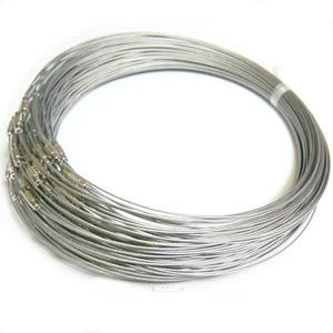 Baza colier, sarma siliconata, gri, cu inchizatoare 1 buc