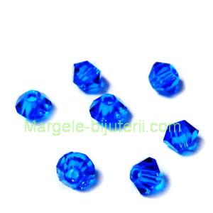 Margele Preciosa biconice Capri Blue - 3mm 1 buc