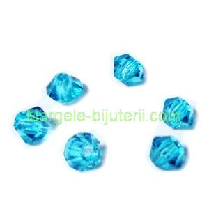 Margele Preciosa biconice Blue Zircone - 3mm 1 buc