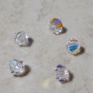 Margele Preciosa biconice Crystal AB - 4mm 1 buc