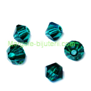 Margele Preciosa biconice Emerald - 4mm 1 buc