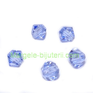 Margele Preciosa biconice Light Sapphire - 4mm 1 buc