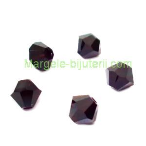 Margele Preciosa biconice Garnet - 4mm 1 buc