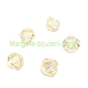 Margele Preciosa biconice Jonquil - 4mm 1 buc