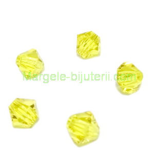 Margele Preciosa biconice Citrine - 4mm 1 buc