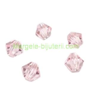 Margele Preciosa biconice Light Rose - 4mm 1 buc