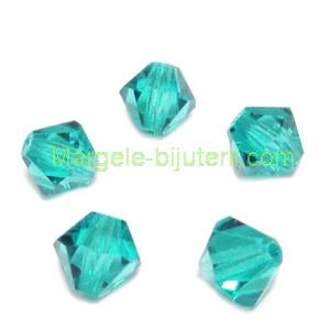Margele Preciosa biconice Blue Zircon - 6mm 1 buc