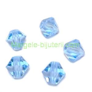 Margele Preciosa biconice Aquamarine - 6mm 1 buc