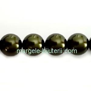 Perle Preciosa Dark Green 6mm 1 buc