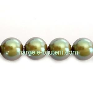 Perle Preciosa Pearlescent Khaki 10mm 1 buc