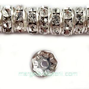 Margele Preciosa rondel Crystal - 6mm 1 buc