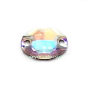 Link Preciosa oval Crystal AB 10x7mm 1 buc