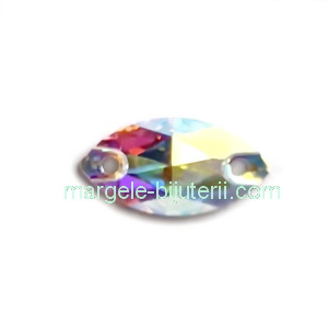 Link Preciosa ochi de cal Crystal AB 12x6mm 1 buc