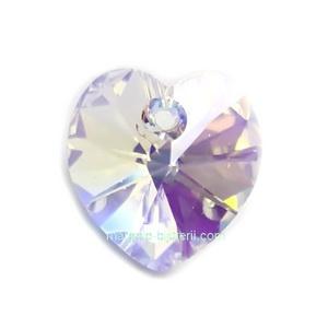 Pandantiv Preciosa inima Crystal AB 10mm 1 buc