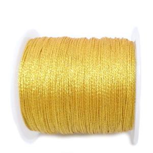 Ata polyester, auriu metalic, 0.4mm-bobina 45m 1 buc