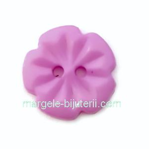 Nasturi plastic mov, floare 15x2.5mm 1 buc