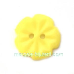 Nasturi plastic galben, floare 15x2.5mm 1 buc