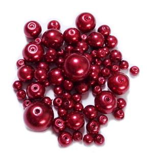 Mix perle sticla, grena, 4-12 mm 25 g