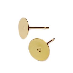 Tortite cercei cu tija, otel inoxidabil 201, auriu, platou 8mm, tija 10x0.7mm 2 buc