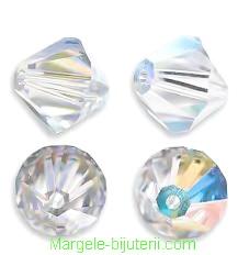 Swarovski Elements, Bicone 5328-Cristal AB, 6mm 1 buc