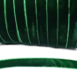 Panglica catifea, verde,  1cm 1 m